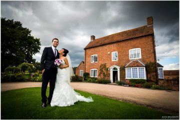 Couple in front of Wethele Manor