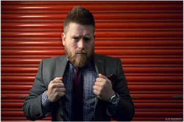 Ben Dalby during beard and suit fashion shoot