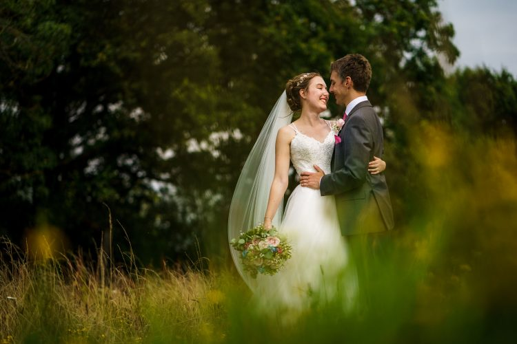 bride and groom portrait at Wethele Manor