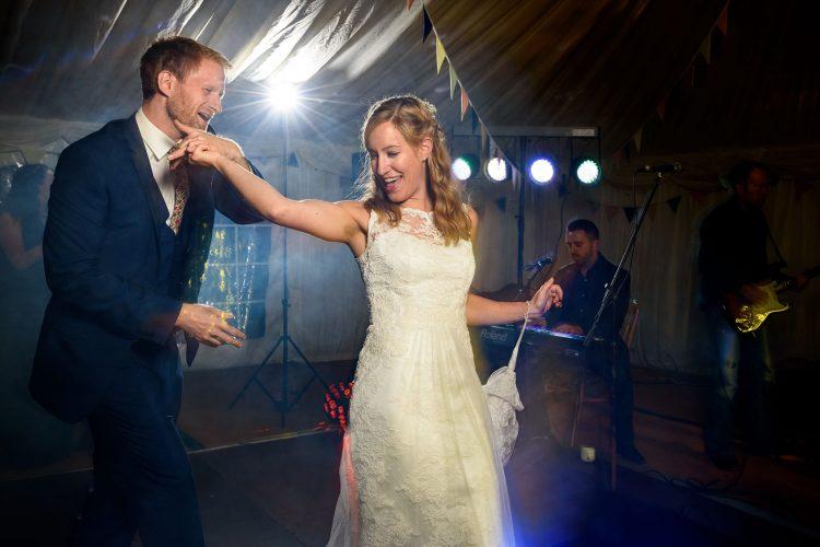 first dance twirls on the wedding dance floor