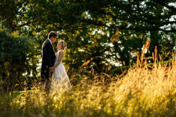 bride and groom portrait at Deer Park Country House